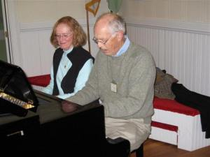 Janet Grant and John Biddle at the piano, 2007